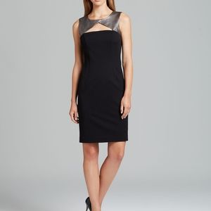 Trina Turk Lucasta dress w/metallic leather trim